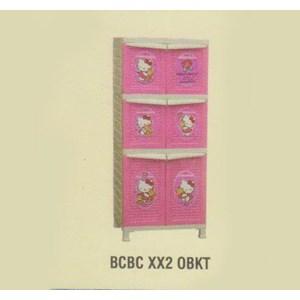 Lemari Plastik Napolly BCBC XX2 OBKT