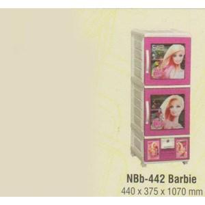 Lemari Plastik Napolly NBb-442 BARBIE