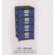 Lemari Plastik Napolly STA-4000 BK1