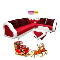 Jual kursi ruang keluarga merah