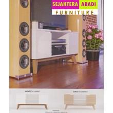 perabotan rak tv putih