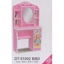 meja rias perempuan pink
