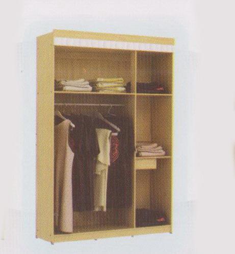 Jual lemari pakaian tiga pintu warna coklat tiga susun ...