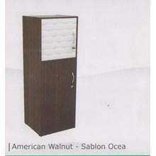 lemari pakaian satu pintu warna coklat tua