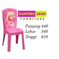kursi makan berbie pink