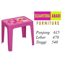 Meja komputer Laptop Barbie (Meja Laptop Barbie)