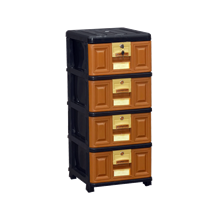 lemari plastik pakaian napolly Stockcase STB-400 BK1