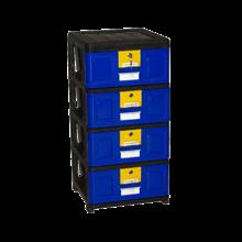 lemari plastik pakaian napolly Stockcase STA-4000 BK1