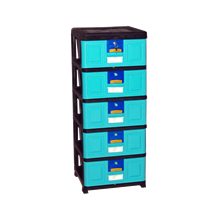 lemari plastik pakaian Stockcase STA-5000 BK1