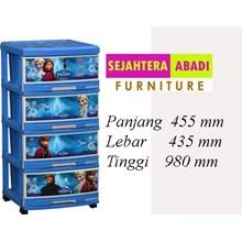 lemari plastik pakaian napolly SFC2 - 4000 - FROZ (SFC2 - 4000 - FROZ)