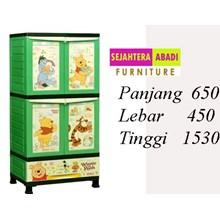 lemari plastik pakaian BCSC - 242 L Pooh (winie the pooh) (BCSC - 242 L Pooh (winie the pooh))