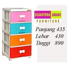 lemari plastik pakaian napolly SCA1 - 4000 - PK1 (SCA1 - 4000 - PK1)