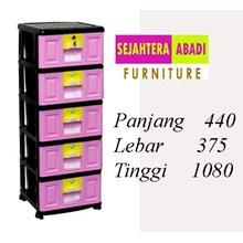 lemari plastik pakaian napolly STB - 500 BK1 (STB - 500 BK1)