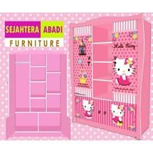 lemari pakaian hello kitty apanel WD HK 1802 SH
