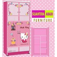 Jual lemari pakaian hello kitty apanel WD HK1802-SH