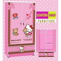 lemari pakaian hello kitty apanel WD-HK1601-BF 1