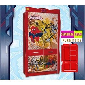 lemari pakaian spiderman apanel WD-K14001
