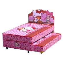 tempat tidur bigland Hello Kitty Best Friend Twin Bed