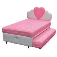 tempat tidur bigland Hello Kitty Twin Bed Classic Sandaran Hati 1