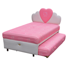 tempat tidur bigland Hello Kitty Twin Bed Classic Sandaran Hati