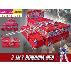 tempat tidur 2in1 bella karakter robot