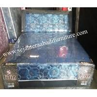 tempat tidur sirin flower biru  1