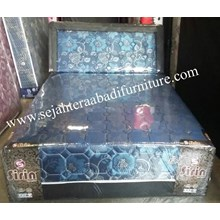 tempat tidur sirin flower biru