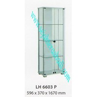 Jual lemari arsip graver LH 6603 (596X370X1670) warna putih