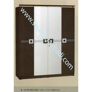lemari pakaian LP 4P (WD 299) (1585X510X2000)