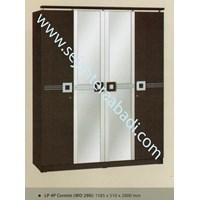 lemari pakaian LP 4P (WD 290) (1585X510X2000)