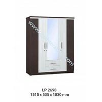 lemari pakaian 3 pintu cermin laci merk graver LP 2698 (1515x 535x1830)