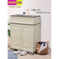 lemari plastik merk olmplast type OBL A1