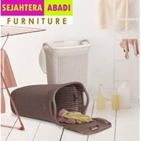lemari plastik merk olmplast type OLB laundry basket