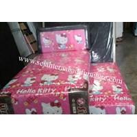 tempat tidur merk shirin karakter hello kitty