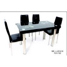 meja makan marmer 4 kursi warna hitam merk SAF type 4014 HI uk. 70x120