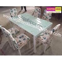 Jual meja makan merk SAF type A7W warna biru