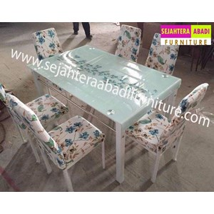 meja makan merk SAF type A7W warna biru