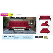 sofa bed merah merk vittorio type new sb armano red