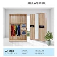lemari pakaian vittorio type angelo 3 pintu