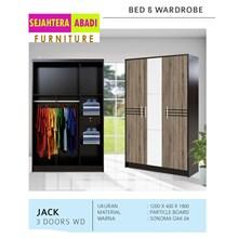 lemari pakaian merk vittorio 3 pintu type jack