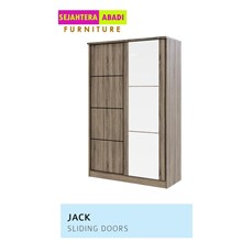 Lemari Pakaian merk vittorio 2 pintu sleding type jack