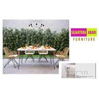 Meja Makan merk benefit type DNT 358 CW / WH-BL