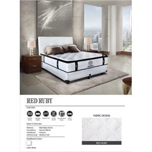 Tempat Tidur merk central type red ruby