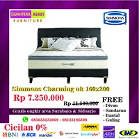 Springbed Simmons Charming brand uk 160x200