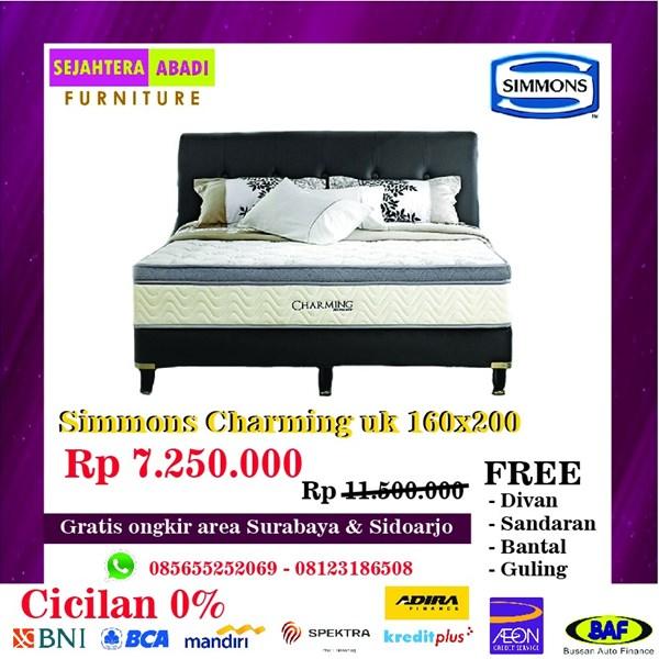 Springbed merk Simmons Charming uk 160x200