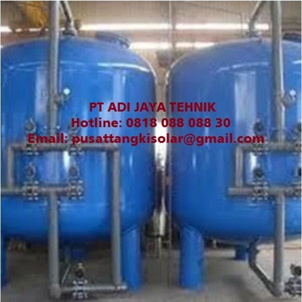 Tangki sand filter tank 5m/jam 250 liter Carbon filter tank 5m3/jam 500 liter SAND CARBON FILTER TANK 5m3/jam