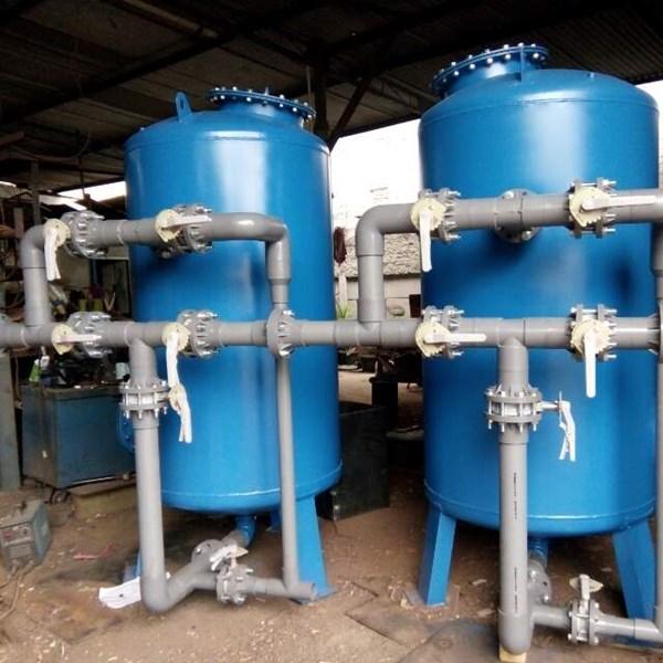SAND FILTER DAN CARBON FILTER TANK 30m3/jam 1500 liter