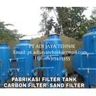 TANGKI SAND FILTER DAN CARBON FILTER TANK 50m3/Jam 2500 LITER 1