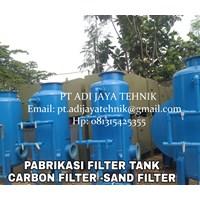 TANGKI SAND FILTER DAN CARBON FILTER TANK 50m3/Jam 2500 LITER