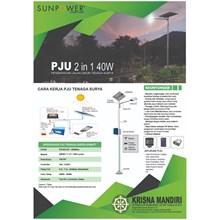 Jual PJU Tenaga Surya SUNPOWER 2 in 1 40 Watt